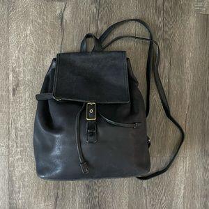 Coach Black Leather Backpack Bag Vintage